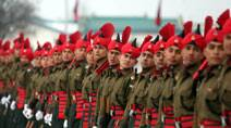Passing out parade at an army base in Jammu and Kashmir