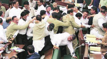 Jammu and Kashmir : House chaos has minister in tears