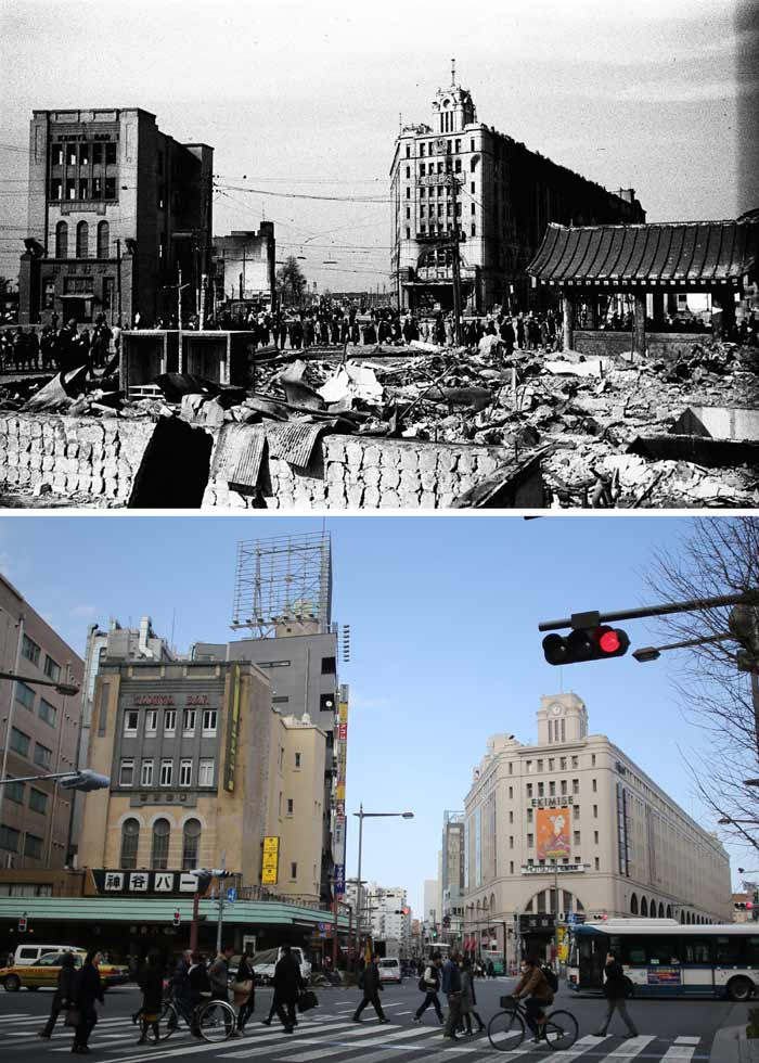 Firebombing of central Tokyo