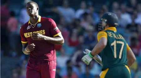 Not too worried that I got hit by AB de Villiers, says Jason Holder