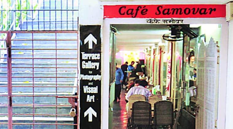 jehnagir art gallery, samovar cafe mumbai