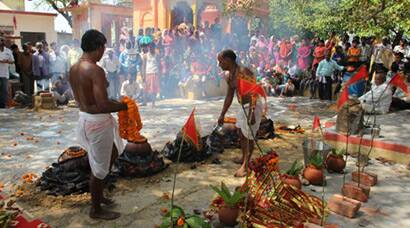Devotees perform Karaha Puja in Uttar Pradesh