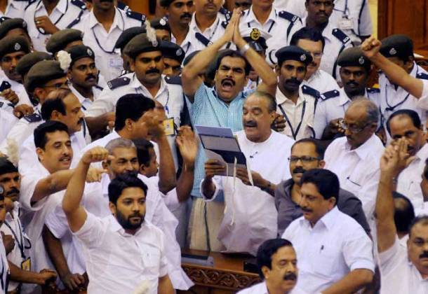 Kerala Budget Brawl: Protest within and outside Assembly as KM Mani presents Budget