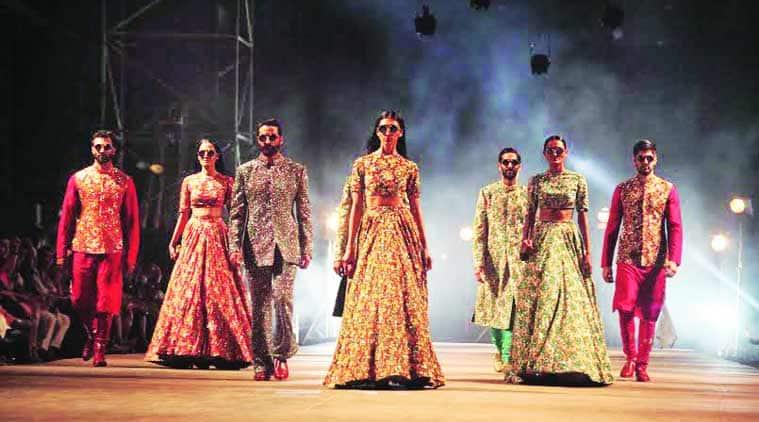 Sabyasachi Mukherjee opened Lakme Fashion Week Summer Resort 2015 with his show 'Big Love'. (Source: Dilip Kagda)