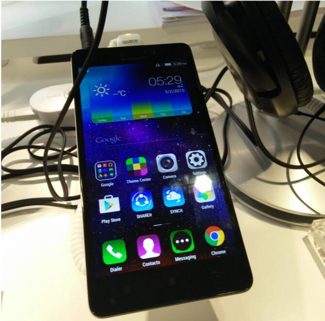 The Lenovo A7000 smartphone. (Source: Nandagopal Rajan)