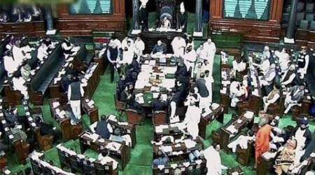 LS Budget session: Before the speech, the Congress noise
