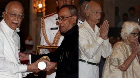 Noted educationist and freedom fighter Madan Mohan Malviya was on Monday posthumously conferred the Bharat Ratna by President Pranab Mukherjee received by his family members.