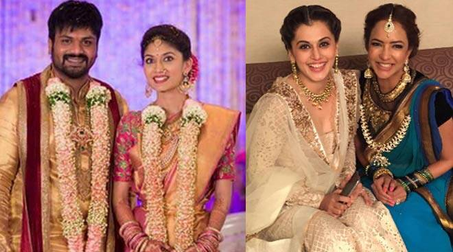 Taapsee at Telugu actor Manoj Manchu's engagement
