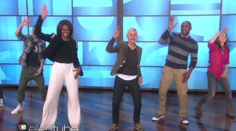Viral Video Michelle Obama Hits The Dance Floor On Bruno