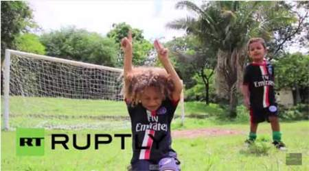 david luiz, thiago silva, david silva look alike, thiago silva look alike, football, football video, cute football video, cute football, children playing football, football news, good news