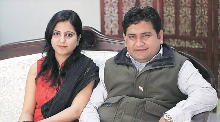 """The 34-year-old minister had thanked wife Ritu for the """"sacrifices"""" she had made for him, and, to thunderous applause from a packed auditorium at the Delhi Secretariat, added, """"Main roz subah inke pair chhoota hoon (I touch her feet every morning)."""""""