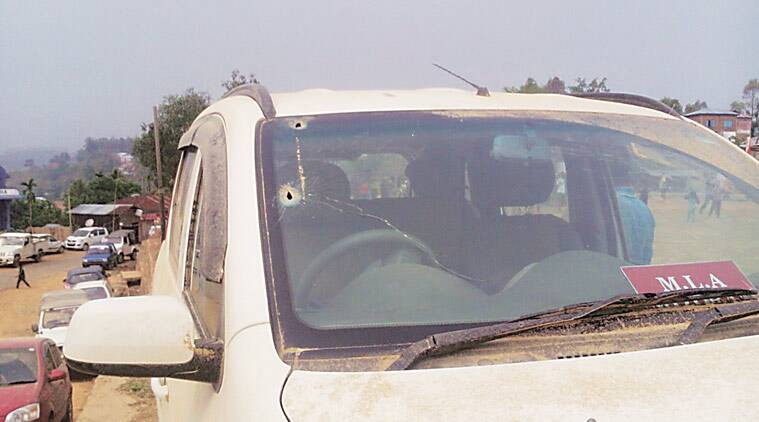Photographs circulated on social media show the aftermath of the militant ambush on the MLAs' convoy.