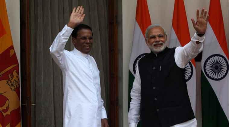 PM Modi, Maithripala Sirisena, three-nation tour, Sri lankan President, Modi in Sri lanka, Colombo, Narendra Modi, Trincomalee, bilateral trade, IOC,  IndianOil Corp, Ceylon Petroleum Corporation, Sampur Coal Power Project, India, Srilanka, Colombo