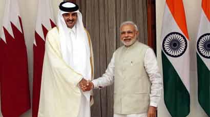 Prime Minister Narendra Modi, Sheikh Tamim Bin Hamad Al-Thani