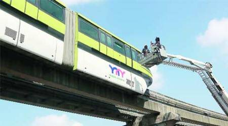 Mumbai: Monorail train breaks down