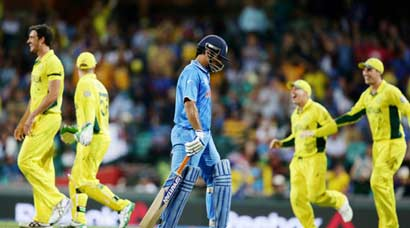 India's title defence ends