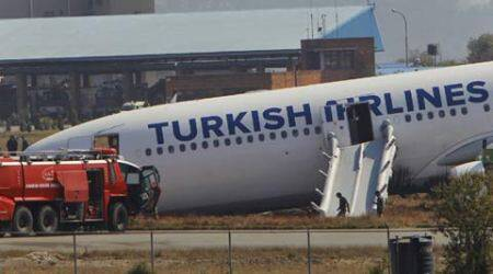 Turkish Airlines plane skids off runway, 240 passengers have a close shave