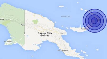 A 7.7 magnitude earthquake hits northeastern town of Papua New Guinea
