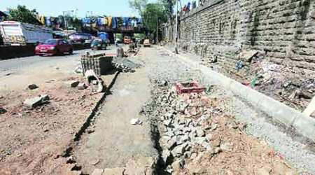 Civic body starts removing paver blocks, adds to chaos on city roads
