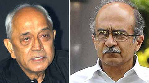 Former Navy chief L Ramdas and Prashant Bhushan