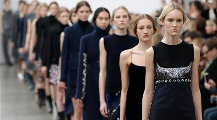 Models wear creations for Aquilano.Rimondi women's Fall-Winter 2015-2016 collection, part of Milan Fashion Week, unveiled in Milan, Italy, Saturday, Feb. 28, 2015. (Source: AP)