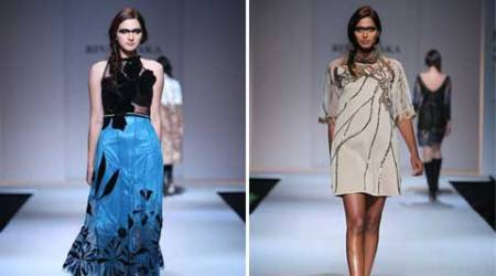Malini Ramani, Rina Dhaka unfold winter story on AIFW ramp