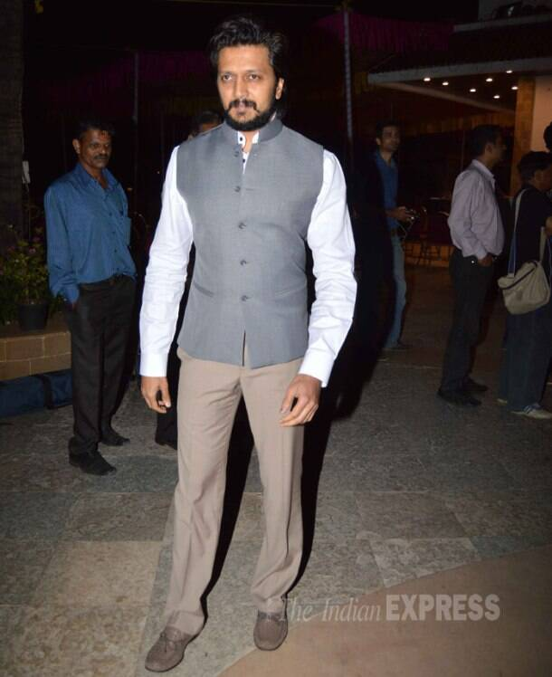 Riteish Deshmukh was also seen at the meeting.