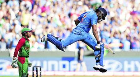CRICKET: Giant leap for Rohit gives India its semi step
