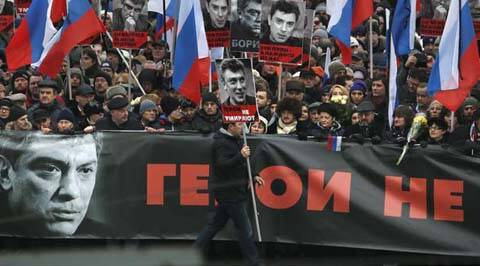 Russia, Putin, Boris Nemtsov, Boris Nemtsov killed, Nemtsov killed, russia protests, anti putin protests, russia anti putin protests, russia opposition leader killed, anti Kremlin attack, anti Kremlin crussader, World News