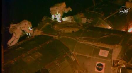 APTOPIX Space Station Spacewalk