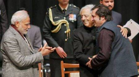 Former separatist Sajjad Lone joins Mufti's cabinet in Kashmir