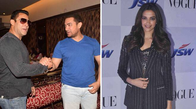 Saturday spotting: Aamir, Salman, Deepika