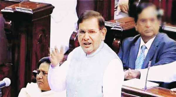 JD(U) leader Sharad Yadav speaks in Rajya Sabha  on Thursday. (PTI)