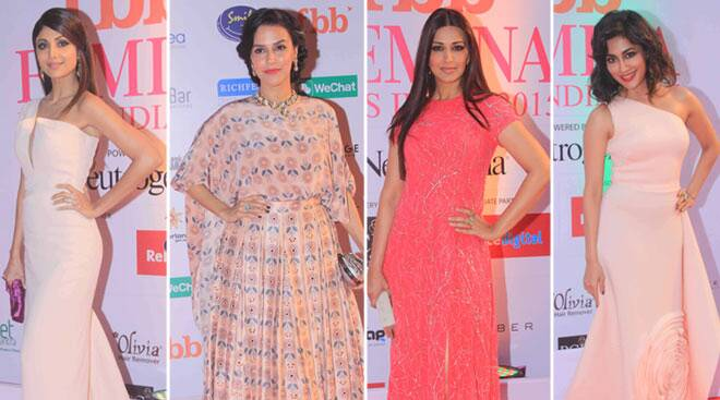 Glamorous Shilpa, Neha Dhupia, Sonali Bendre walk the red carpet at Miss India finale