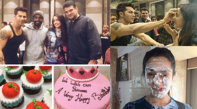 Shraddha Kapoor celebrates birthday on 'ABCD 2' sets