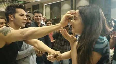 Shraddha Kapoor celebrates birthday with Varun Dhawan on ABCD 2 sets