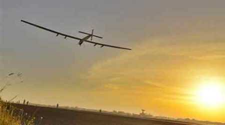 Solar Impulse, Solar Impulse 2, a solar-powered airplane, Bertrant Piccard, Switzerland, Ahmedabad, India, round-the-world journey, Muscat, Oman, Andre Boschberg, aviation, solar impulse plane, solar impulse 2 aircraft, solar impulse 2 speed, science, Nation, India News, National News
