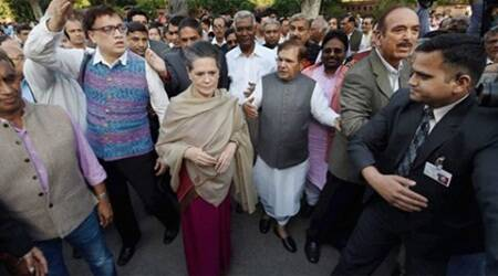 Sonia Gandhi leads Opposition charge against govt — in house and outside