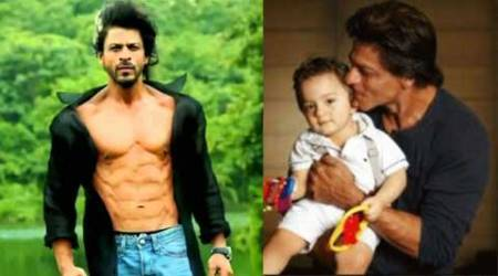 Shah Rukh Khan's Holi: A shirtless drive on the driveway with son AbRam