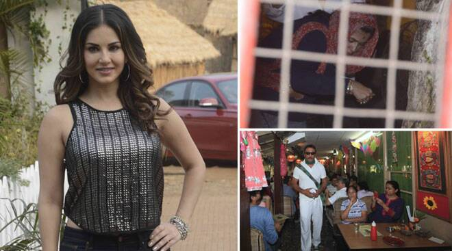 Sunny Leone shoots for Aahat, Ekta Kapoor visits a temple