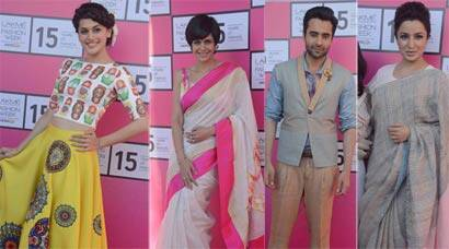 Taapsee, Mandira Bedi, Tisca Chopra at Lakme Fashion Week preview