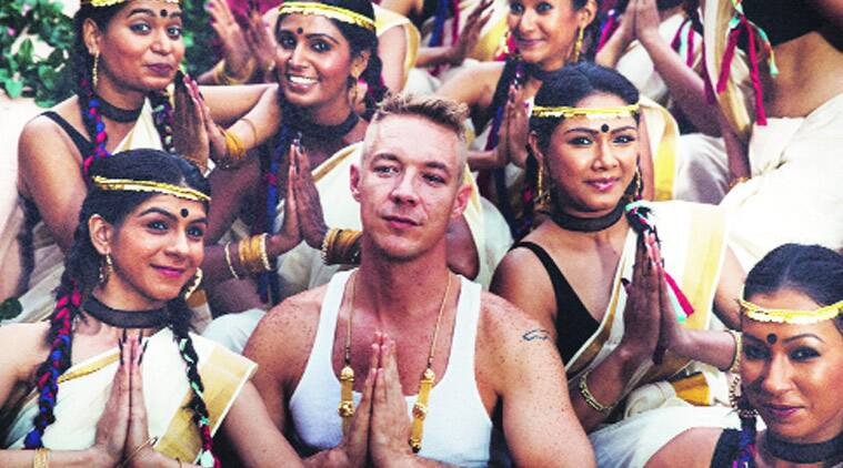 Diplo with backup dancers in the video Lean On