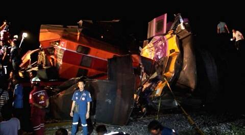 Thailand, Thailand train accident, bangkok, Ayutthaya, Ayutthaya train accident, thailand train crash, Ayutthaya train crash, World News
