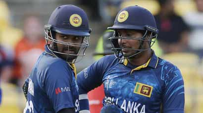 Lahiru, Sanga make it one-sided