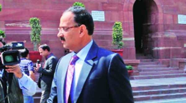 Tihar DG Alok Kumar Verma at Parliament on Wednesday. (Prem Nath Pandey)