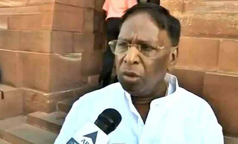Puducherry Chief minister, V Narayanasamy, Narayanasamy, AIADMK, AIADMK allegation on Narayanasamy, Nellithope, Puducherry government, india news