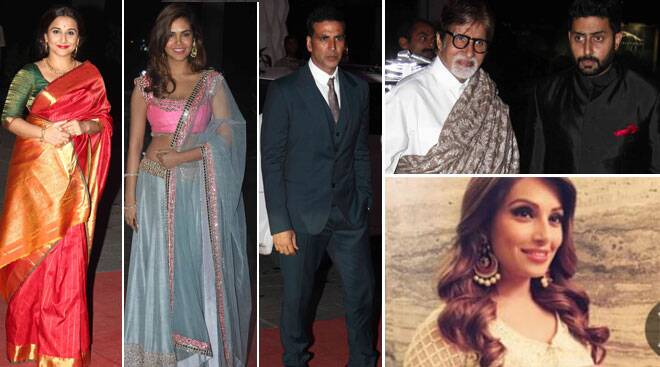 Vidya, Bipasha, Big B, Abhishek, Esha Gupta at Tulsi Kumar's reception