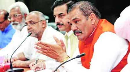 BJP protests LS washout, blames Cong for disruption