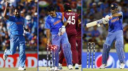 India vs West Indies: Bowlers, captain MS Dhoni come to party as India extend World Cup streak