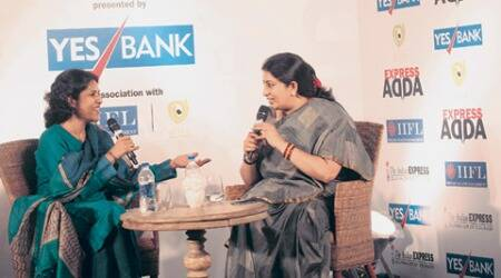 Express Adda: We have to understand that children cannot be vote banks, says Smriti Irani